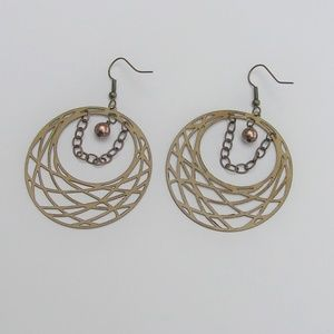Handmade Metal Hoop Earrings